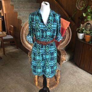 Collective Concepts Super Cute Blue Green Dress